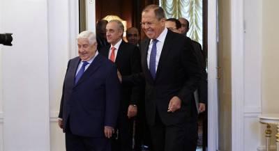 Лавров и Муаллем выступили за снятие санкций с Дамаска