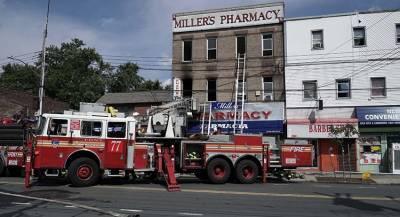 Люди пострадали при пожаре в Нью-Йорке