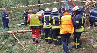 В Киеве упал гражданский вертолёт