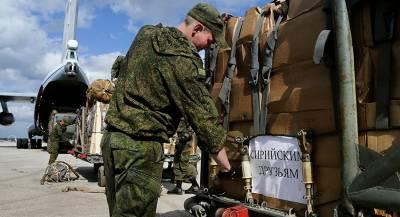 Российский конвой доставил продукты всирийскую Хаму