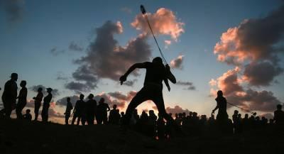 Палестинцы столкнулись с силовиками Израиля в Газе