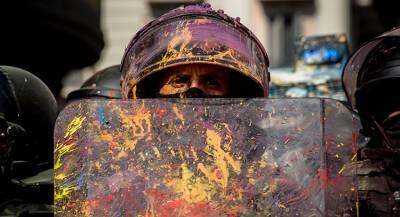Протест в Каталонии закончился избиением манифестантов
