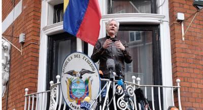 Ассанж подаст в суд на правительство Эквадора