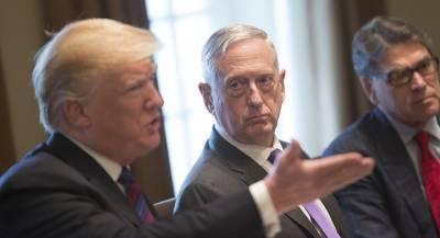 Трамп допускает отставку главы Пентагона Мэттиса