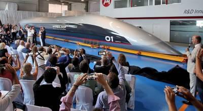 В Испании представили сверхскоростной поезд Hyperloop