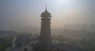 На Китай надвигается гигантское облако смога