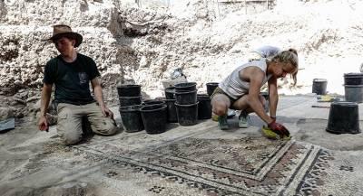 Житель Сирии нашел в своём саду древнюю мозаику