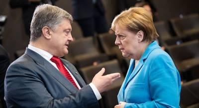 Ангела Меркель обсудит с Порошенко ситуацию в Донбассе