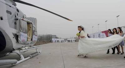 Молодожёны разбились на вертолёте сразу после свадьбы