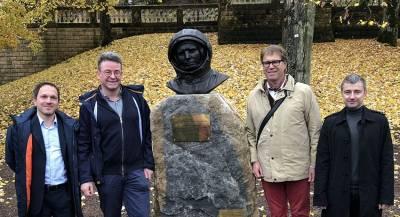 Памятник Юрию Гагарину установили в Люксембурге