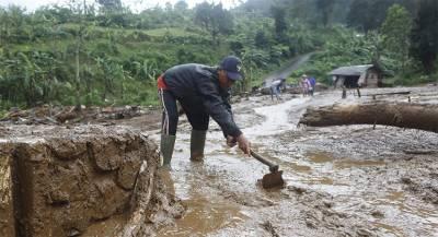 Несколько жителей Индонезии погибли при оползне