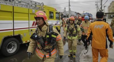 Крупный пожар произошёл в гостинице Сеула
