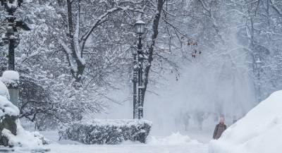 Улицы Киева превратились в каток после снегопада