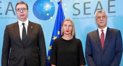 Главы Сербии и Косово повздорили в Брюсселе