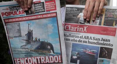 Траур по жертвам подлодки San Juan объявят в Аргентине