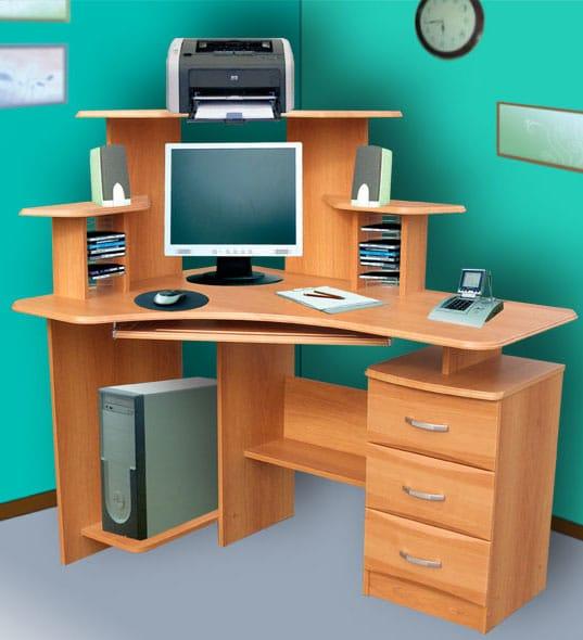 Материалы изготовления компьютерных столов
